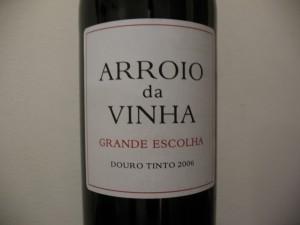 Этикетка португальского вина с обозначением Гранде Эшколя