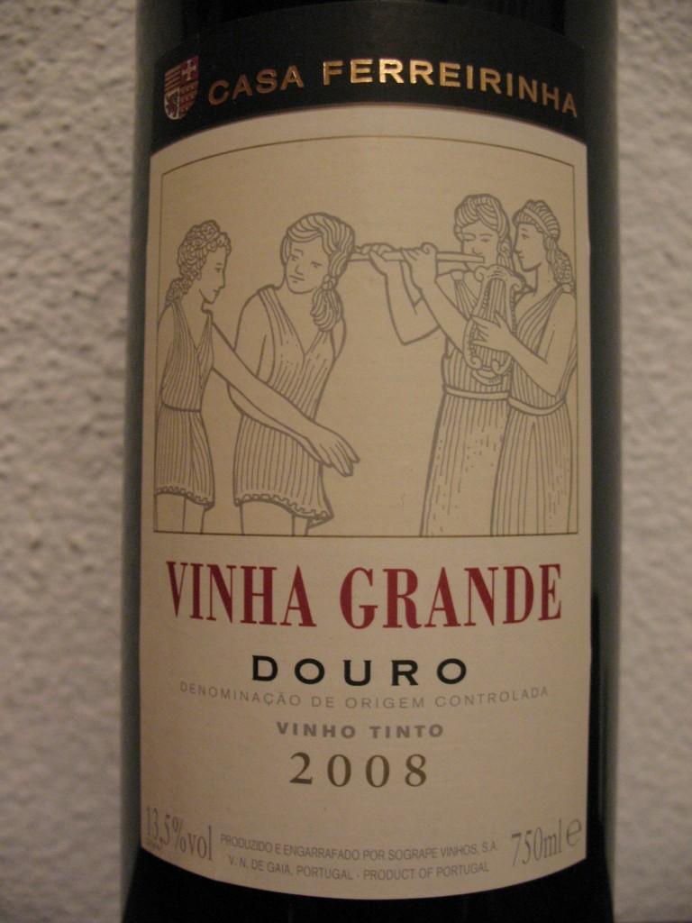 этикетка португальского вина Vinha Grande