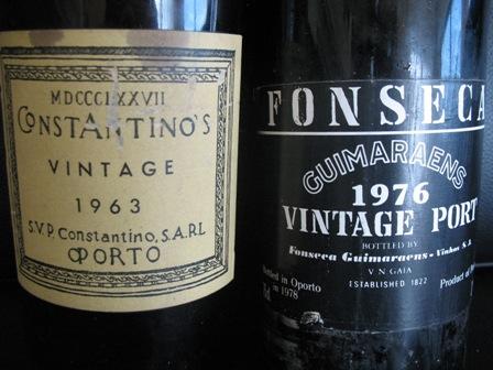 Винтажный портвейн 1963 и 1976 года