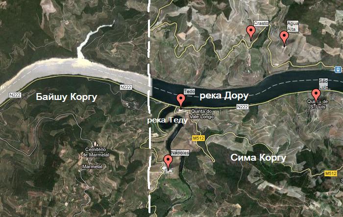 Карта Дору - расположение Кинты Наполеш