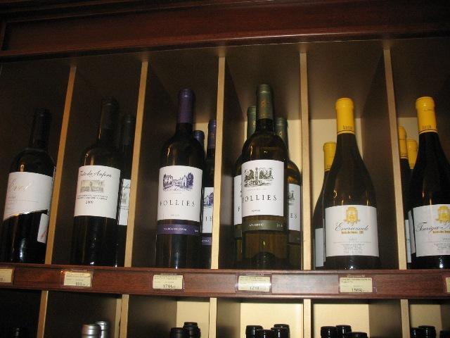 E mais vinhos portugueses na mesma garrafeira