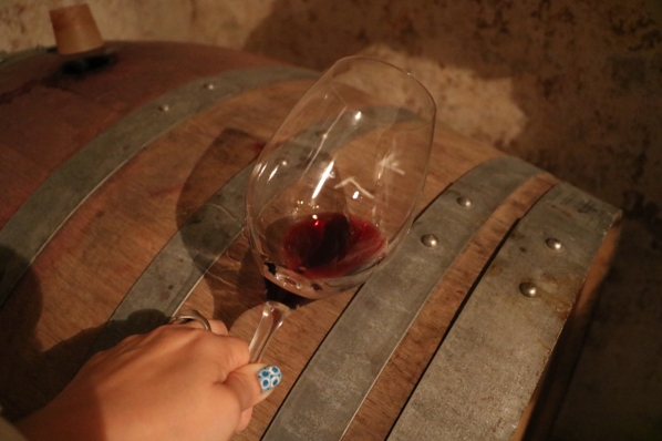 Cask sample of Tinta Francisca at Muxagat Vinhos