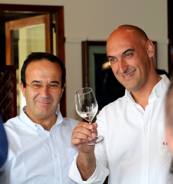 Ervideira vertical tasting - Duarte Leal da Costa and Nelson Rolo
