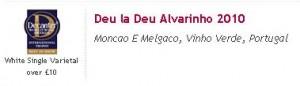 Deu la Deu Alvarinho победитель в категории лучшее белое односортовое вино