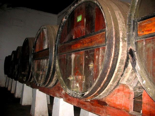 Бочки с ликерным вином на Кинте ду Сангинял