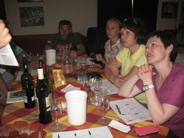 Дегустация португальских вин во время посещения винодельческого хозяйства Кинта ду Сангинял