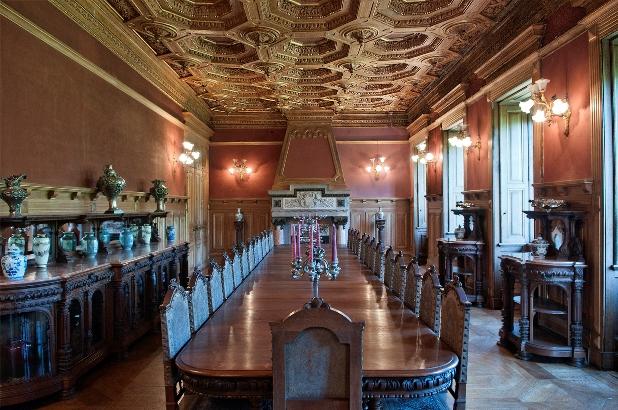 Обеденный зал, дворец Паласиу да Брежоейра, Монсау, Виньюш Вердеш