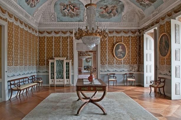 Портретный зал во дворце, Виньюш Вердеш, Монсау, Португалия