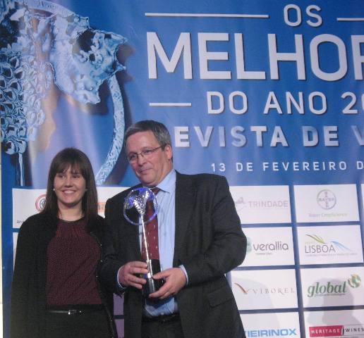 Жозе Мануэл Соуза Соареш на вручении премии энолог года (крепленые вина)
