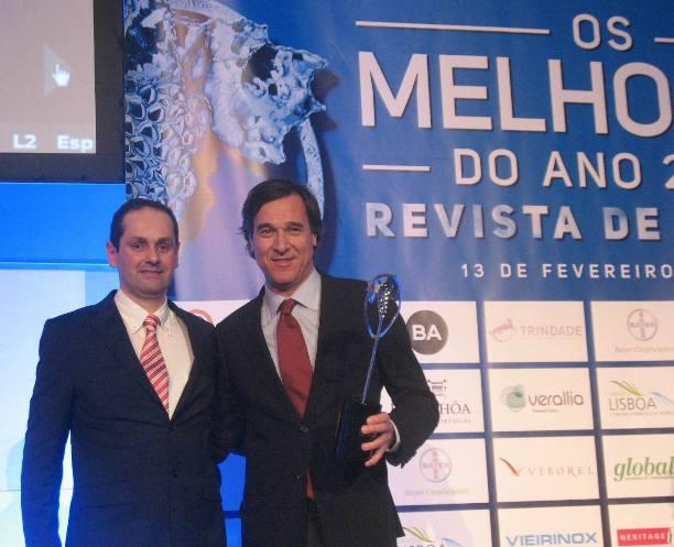 Вручение премии Педру Араужу, владельца Quinta do Ameal