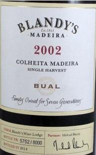 Мадера Blandy's Bual 2002